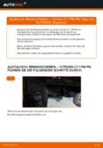 CITROËN C1 (PM_, PN_) Bremsbeläge: Schrittweises Handbuch im PDF-Format zum Wechsel