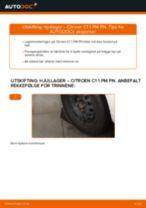 Montering Hjullagersett CITROËN C1 (PM_, PN_) - steg-for-steg manualer