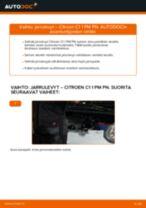 Automekaanikon suositukset CITROËN CITROËN C1 (PM_, PN_) 1.4 HDi -auton Iskunvaimentimet-osien vaihdosta