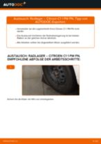Ersetzen von Radlagersatz CITROËN C1: PDF kostenlos