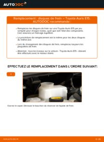 Comment effectuer un remplacement de Disques De Frein sur 1.4 D-4D (NDE150_) Toyota Auris e15