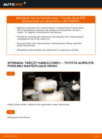 Jak przeprowadzić wymianę: Tarcza hamulcowa w 1.4 D-4D (NDE150_) Toyota Auris e15