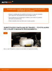 Como realizar a substituição de Pastilhas De Travão no 1.4 D-4D (NDE150_) Toyota Auris e15