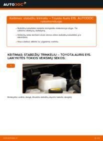 Kaip atlikti keitimą: 1.4 D-4D (NDE150_) Toyota Auris e15 Stabdžių Kaladėlės