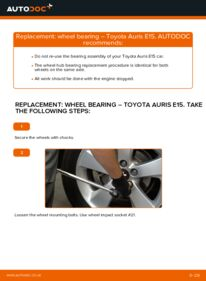 How to carry out replacement: Wheel Bearing on 1.4 D-4D (NDE150_) Toyota Auris e15