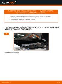 Kaip atlikti keitimą: 1.4 D-4D (NDE150_) Toyota Auris e15 Vikšro Valdymo Svirtis