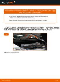Wie der Wechsel durchführt wird: Querlenker 1.4 D-4D (NDE150_) Toyota Auris e15 tauschen