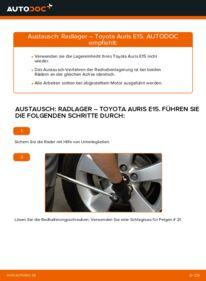 Wie der Wechsel durchführt wird: Radlager 1.4 D-4D (NDE150_) Toyota Auris e15 tauschen