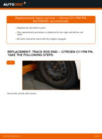 How to carry out replacement: Track Rod End on CITROËN C1