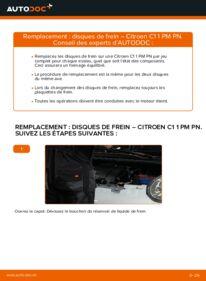 Comment effectuer un remplacement de Disques De Frein sur 1.0 Citroën C1 Phase 1