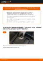 Wie Scheibenbremsen belüftet beim LEXUS NX wechseln - Handbuch online