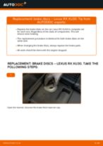 Replacing Wheel Hub LEXUS RX: free pdf