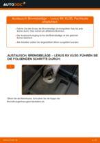 LEXUS RX (MHU3_, GSU3_, MCU3_) Bremssattel Reparatursatz ersetzen - Tipps und Tricks