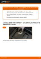 Jak vyměnit přední a zadní Brzdové Destičky LEXUS udělej si sám - online návody pdf
