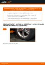 Comment changer : rotule de rirection sur Lexus RX XU30 - Guide de remplacement