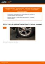 Comment changer : bras oscillant inférieur de suspension arrière sur Lexus RX XU30 - Guide de remplacement