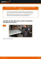 Ersatz Luftfilter OPEL Meriva A (X03) | PDF Wechsel Tutorial