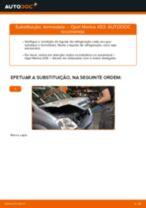 Como mudar termóstato em Opel Meriva X03 - guia de substituição