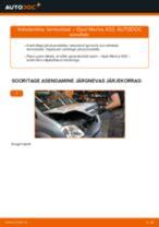 Kuidas vahetada Opel Meriva X03 termostaat – õpetus