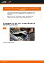 Wie Bremsscheibe OPEL MERIVA tauschen und einstellen: PDF-Tutorial