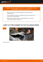 OPEL MERIVA change Brake Pads rear and front: guide pdf