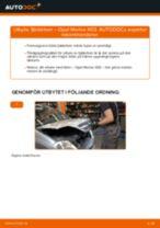 Byta fjäderben fram på Opel Meriva X03 – utbytesguide