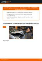 Skifte Glødelampe Nummerskiltlys OPEL MERIVA: gratis pdf