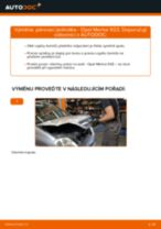 Jak vyměnit přední pérovací jednotka na Opel Meriva X03 – návod k výměně