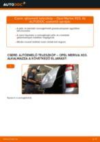 OPEL MERIVA felhasználói kézikönyv pdf