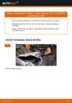 Opel Movano B Bus instrukcijas par remontu un apkopi