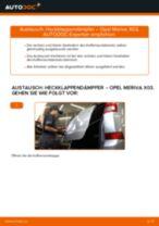 Heckklappendämpfer selber wechseln: Opel Meriva X03 - Austauschanleitung