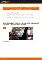 Comment changer : verin de hayon sur Opel Meriva X03 - Guide de remplacement