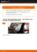 Steg-för-steg OPEL MERIVA reparationsguide