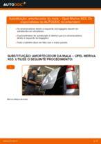 Como mudar amortecedor da mala em Opel Meriva X03 - guia de substituição