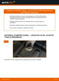 Kaip atlikti keitimą: 3.3 400h AWD Lexus RX XU30 Stabdžių diskas