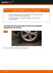Wie der Wechsel durchführt wird: Querlenker 3.3 400h AWD Lexus RX XU30 tauschen