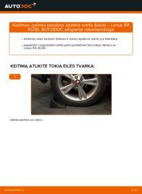 Kaip atlikti keitimą: 3.3 400h AWD Lexus RX XU30 Vikšro Valdymo Svirtis