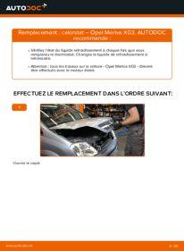 Comment effectuer un remplacement de Thermostat sur 1.7 CDTI (E75) Opel Meriva A