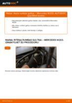Automehāniķu ieteikumi MERCEDES-BENZ Mercedes W203 C 180 1.8 Kompressor (203.046) Stikla tīrītāja slotiņa nomaiņai