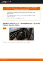 Kaip pakeisti Mercedes W203 rato guolio: priekis - keitimo instrukcija