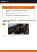 Wie Mercedes W203 Radlager vorne wechseln - Anleitung