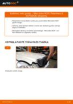 Žingsnis po žingsnio pakeiskite MERCEDES-BENZ E-CLASS (W211) Rato guolis PDF vadovas