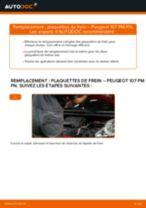 Notre guide PDF gratuit vous aidera à résoudre vos problèmes de PEUGEOT PEUGEOT 107 1.4 HDi Filtre d'Habitacle