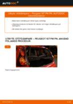 Byta stötdämpare bak på Peugeot 107 PM PN – utbytesguide