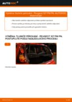 Jak vyměnit zadní tlumiče pérování na Peugeot 107 PM PN – návod k výměně