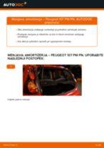 Zamenjavo Blažilnik PEUGEOT 107: brezplačen pdf