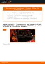 PDF manuel de remplacement: Amortisseur PEUGEOT 107 3/5 portes (PM_, PN_) arrière + avant
