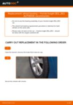 DIY HONDA change Wheel bearing kit rear and front - online manual pdf