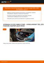 Jak wymienić i wyregulować Komplet klocków hamulcowych HONDA INSIGHT: poradnik pdf