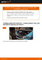 Výměna Brzdové Destičky HONDA INSIGHT: zdarma pdf